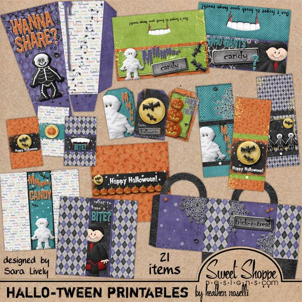 Hallowtween printable preview