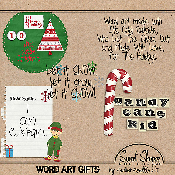 heather roselli designs 10 days before christmas word art freebie